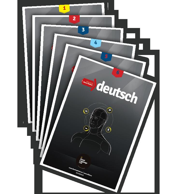 Seria sześciu podręczników do nauki języka niemieckiego w Fonetyce Szkole Języków Obcych w Grodzisku Mazowieckim.